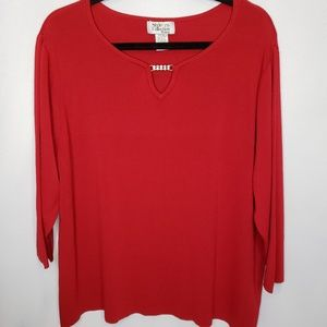 Style & Co Collection Size 3X Red Stretch Knit